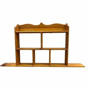Handmade Wood Wall Curio Shelf